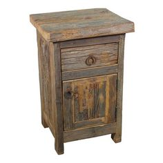 Our rustic reclaimed barn wood nightstand will bring warmth and character to your bedroom, from Indeed Decor, curators of unique home decor. Barn Wood Projects, Reclaimed Wood Projects, Reclaimed Wood Furniture, Reclaimed Barn Wood, Old Wood, Repurposed Furniture, Pallet Furniture, Rustic Furniture, Rustic Wood