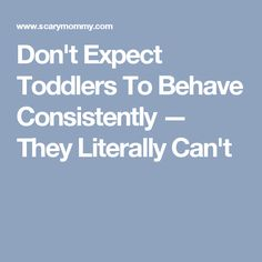 Don't Expect Toddlers To Behave Consistently — They Literally Can't