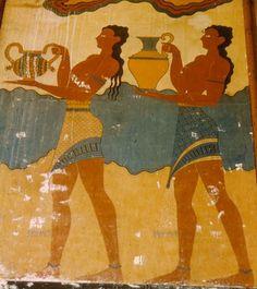 Origination of the chevron.  Crete.