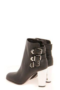 8d707c28d3a1 Amber Buckle Trim Mirrored Heel Shoe Boots  lt 3 Shoes Heels Boots
