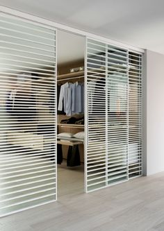 The Line internal door is a sliding door system with a unique aluminium frame design. With a slim aluminium framing design that cuts over the face of glass you can create a unique glass door design. Internal Glass Sliding Doors, Internal Door Frames, Sliding Door Systems, Glass Doors, Folding Wardrobe, Sliding Wardrobe Doors, Small Loft Apartments, Contemporary Internal Doors, Cheap Interior Doors