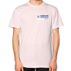 Merkur Logo Unisex T-Shirt (on man)