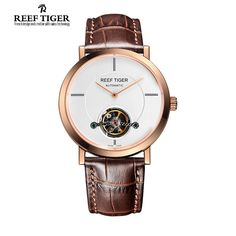 (168.00$)  Buy here - http://aicp9.worlditems.win/all/product.php?id=32283793741 - Reef Tiger/RT Watches New Business Tourbillon Mechanical Watches For Mens Automatic Luxury Brand Rose Gold Watches RGA1610