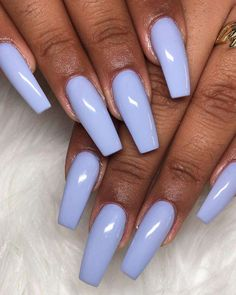Awesome light purple coffin nails long #AcrylicNailsForSummer Perfect Nails, Gorgeous Nails, Pretty Nails, Garra, Light Purple Nails, Light Nails, Coffin Nails Long, Dope Nails, Cute Acrylic Nails