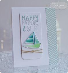TE Blog Design Team: Ships Ahoy! Birthday Card by Caryn Davies #Birthday, #Cardmaking, #BlogTeam