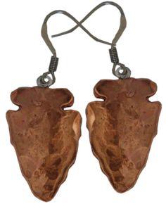 Women's Copper Arrowhead Earrings #311-360