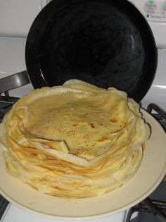 Hungarian Palacsinta (Crepes) i remember them well, sit by the stove and watch Grandpa flip em and stack em
