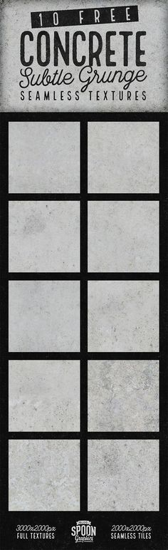 10 Free Seamless Subtle Grunge Concrete Textures