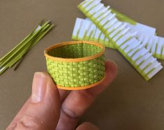 The first woven paper basket kit is up on Modern Miniature Succulents + Sundries! Starting with a pre-cut kit takes all the tedium out of miniature basket weaving