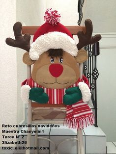 cubresillas duende navidad - Buscar con Google Christmas Sewing, Christmas Snowman, Christmas Stockings, Christmas Crafts, Merry Christmas, Best Christmas Gifts, Christmas And New Year, All Things Christmas, Christmas Holidays