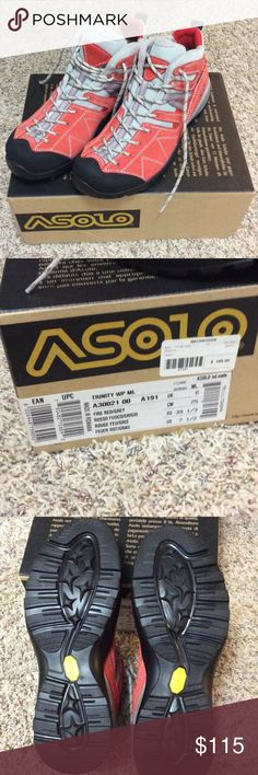 NEW!! Asolo Size 7.5 Red/Grey Hiking Shoes Trinity Very nice, brand new hiking/tennis shoes! Comes with box Asolo Shoes Sneakers