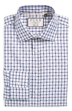 Thomas Pink Slim Fit Check Dress Shirt
