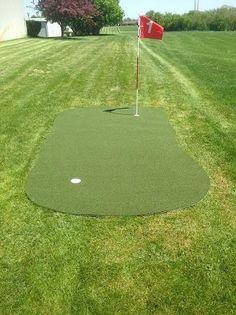Big Moss Golf Outdoor Target Chipping & Putting Green Outdoor Putting Green, Baseball Field, Stepping Stones, Target, Big, Outdoor Decor, Enabling, Golf Chipping, Surface