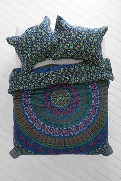 Magical Thinking Blue Green Medallion Duvet Cover $89.00 Urban Outfitters