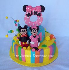 #minnie#and mickey mouse#cake