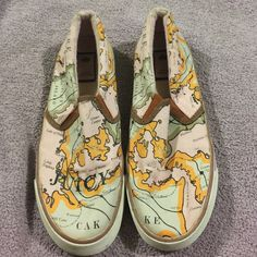 Juicy couture shoes Authentic juicy couture flats. They are women's size 8. They are of a map. The inside lining is pink. Have been used however still great Juicy Couture Shoes Sneakers