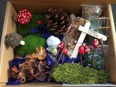 DIY fairy garden kit - handmade toadstools, washing line, signpost, ladder, etc