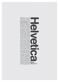 Helvetica is a very common font, often used in essays or professional paperwork. I enjoy this font because its simple and is very easy on the eyes.