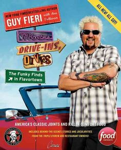 Guy Fieri on His New Diners, Drive-Ins and Dives Cookbook- Diners, Drive-Ins, and Dives: The Funky Finds in Flavortown: America's Classic Joints and Killer Comfort Food Food Network Tv Shows, Food Network Star, Food Network Recipes, Cooking Network, Diners Driveins And Dives, Blueberry Goat Cheese, Cheese Pies, American Restaurant, American Diner