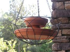 DIY bird bath and feeder.. can't locate the instructions but looks easy enough