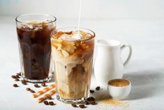 Coffee Recipes, Coffee Drinks, Coffee Shop, Espresso, Food And Drink, Pudding, Meals, Fruit, Tableware