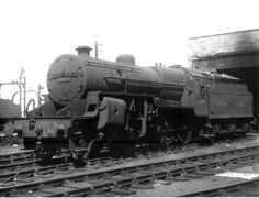 BR ex-LMS Crab Class 5F 2-6-0 42895 at Lancaster shed [11 May 1949] Steam Railway, British Rail, Old Churches, Steamers, Steam Engine, Steam Locomotive, Crabs, Antarctica, Lancaster