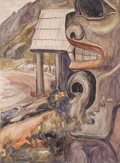 Rusart. Emily Carr - biography, paintings, drawings Canadian Painters, Canadian Artists, Modern Indian Art, Modern Art, Beaver Drawing, Emily Carr Paintings, Native American Totem, Chaim Soutine, Cool Art