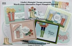 Simply Sunday: No Matter the Weather Cards … Weather Cards, Create A Banner, Pink Envelopes, Wink Of Stella, Magnolia Stamps, Under My Umbrella, Get Free Stuff, 8th Of March, Paper Pumpkin