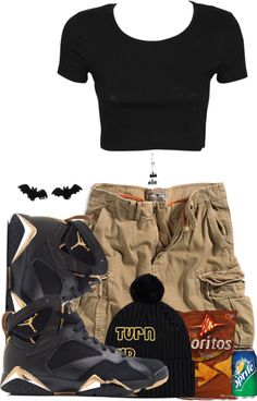 """Jordans !!"" by wildberrii ❤ liked on Polyvore"