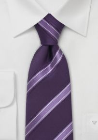 Italian Striped Tie in Lavender