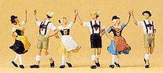 Preiser 10241 - Ring-around dancegroup 3/