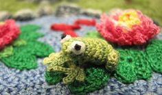 On the Back Page of the Winter 2014 issue of Interweave Crochet, you'll find a curious critter looking back at you. This garden bandit is just a bit of the flora and fauna that fills the crocheted creation called Summer Visitors, imagined and executed by Sachiko Adams.  The raccoon is Sachiko's favorite critter. Ours, …