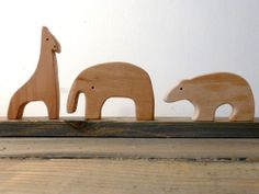 Image of 5 Piece Wooden Zoo Set