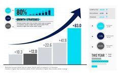 Illustration of data analysis graph Free Vector Circle Infographic, Infographic Templates, Modern Business Cards, Business Card Design, Business Icon, Mundo Marketing, Graph Design, Bar Graphs, Social Media