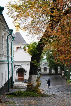 Inside the Kiev Pechersk Lavra Autumn Scenes, Roads, Ukraine, Landscape, World, Travel, Scenery, Viajes, Road Routes