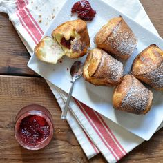 Popovers and Jam via @Kasey Hickey // Turntable Kitchen