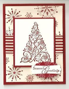 Snow swirled stamp set by Stampin up