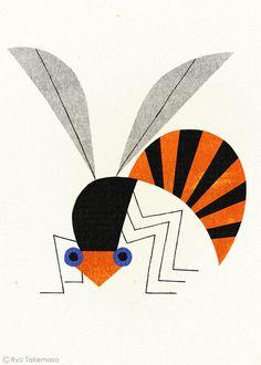 武政 諒 Ryo Takemasa | illustration of a bee