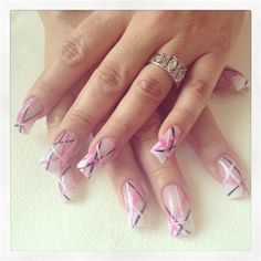 Day 326: Pink, Black and White Nail Art www.nailsmag.com