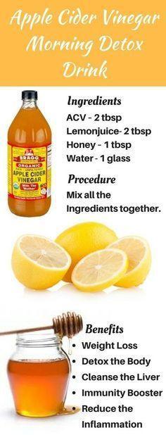 Apple Cider Vinegar Morning Detox Drink