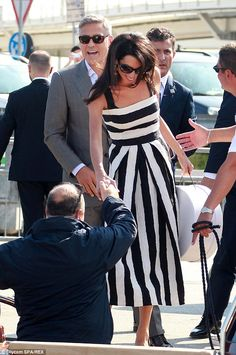 Amal Alamuddin's stylish wedding weekend #dailymail