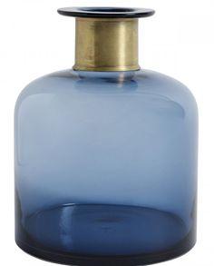 Blå vase L