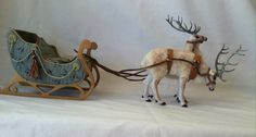 Miniature Dollhouse  Reindeer set and by WoolytalesMiniatures, $1000.00