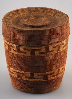 Tlingit basket with lid | Reed | ca. 1910