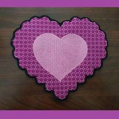 Free Embroidery Design: In The Hoop Lacey Heart