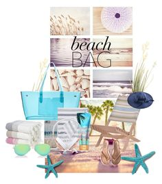 Beach Bag Essentials by saachistyle on Polyvore featuring Tkees, J.Crew, Ray-Ban, Frends and Garden Trading