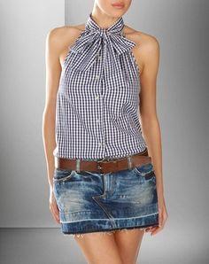 Clothing for men & women Dolce & Gabbana online shop - shirt refashion - Diy Clothing, Sewing Clothes, Clothes Refashion, Refashion Dress, Clothing Sites, Recycled Mens Shirt, Umgestaltete Shirts, Dolce Gabbana Online, Diy Shirt