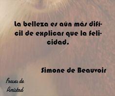 Frases de amor de beauvoir de Simone de Beauvoir