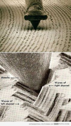 A close up view of a vinyl record.