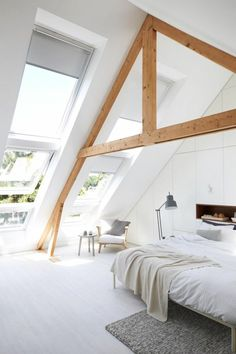 What comes in your mind when somebody said loft room? Can it be the dusty, chilly, old room which is certainly unsuitable for a bedroom? ) If so, then you will need to observe these minimalist and modern loft bedroom… Continue Reading → Loft Room, Bedroom Loft, Bedroom Decor, Bedroom Ideas, Skylight Bedroom, Attic Master Bedroom, Extra Bedroom, Modern Bedroom, Attic Renovation